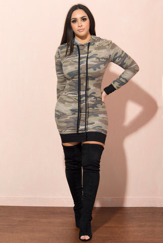 London Camo T Shirt Dress - Fashion Effect Store  - 1