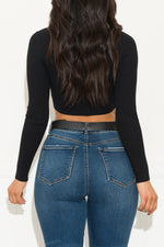 No Promises Cropped Top Black