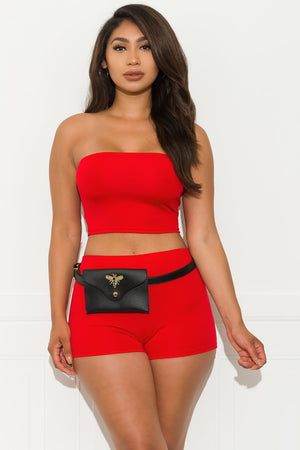 Living My Best Life Two Piece Set - Red