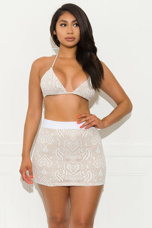 No Doubts Two Piece Set - White