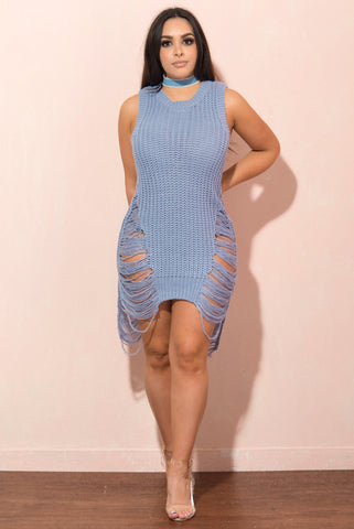 Kenzie Light Blue Dress - Fashion Effect Store  - 1