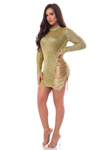 RESTOCK Jean Rose Gold Dress - Fashion Effect Store  - 2