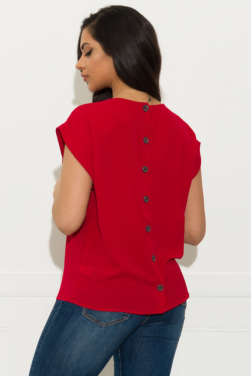 Juliana Blouse - Red