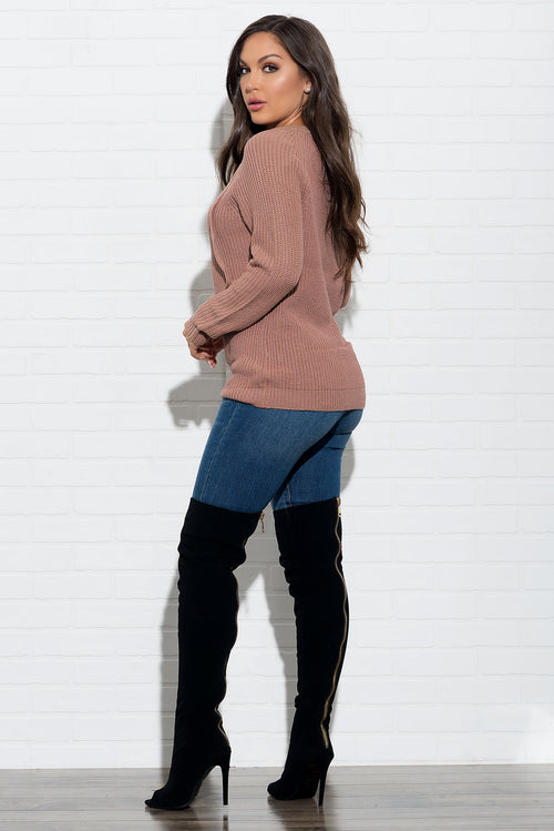 Laura Sweater - Dusty Pink