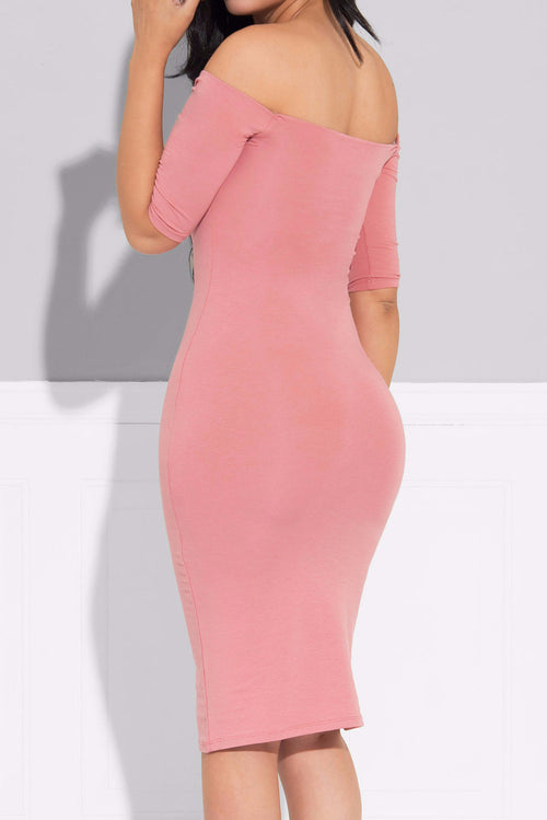 Mindy Dusty Rose Dress