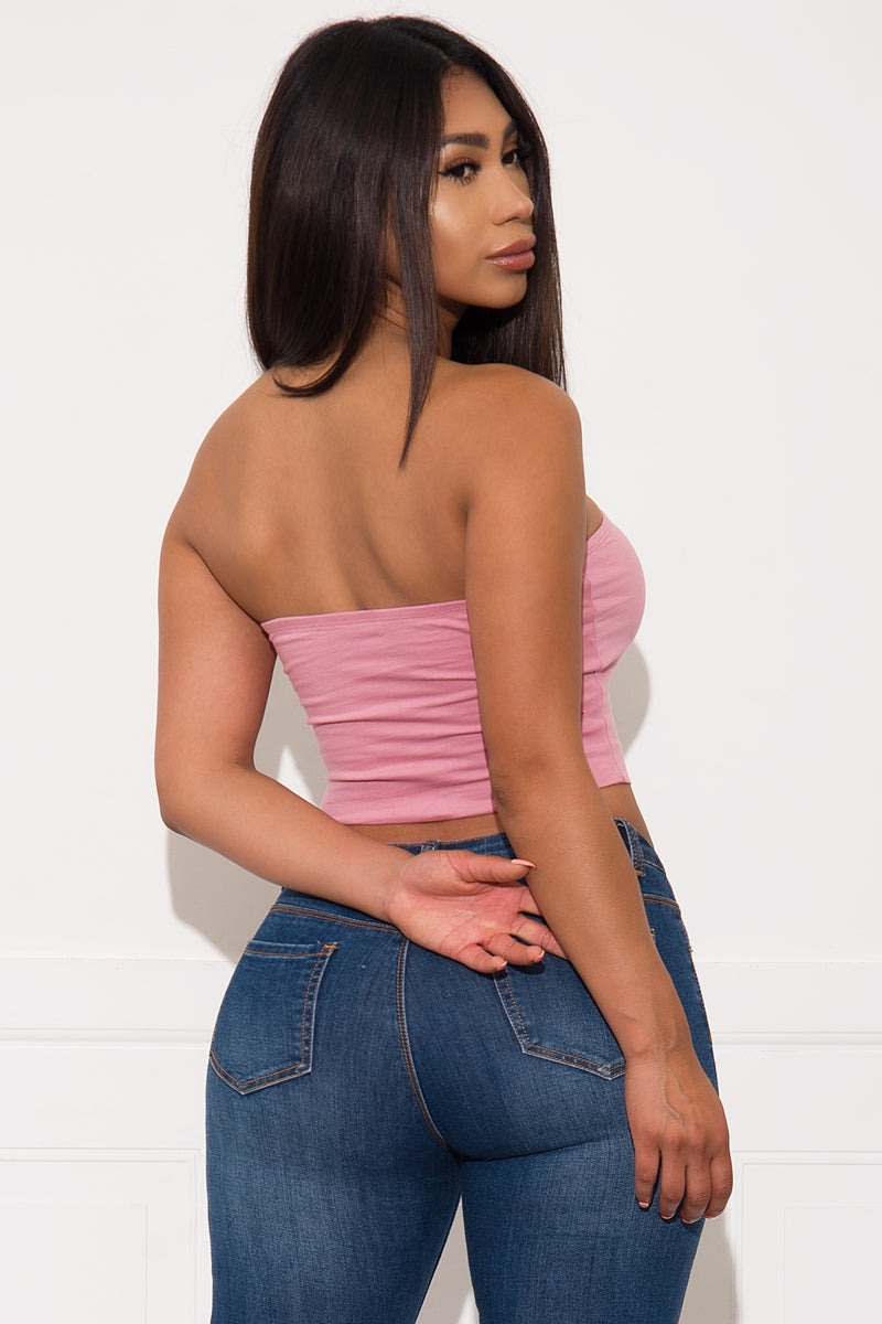 Noel Tube Top Dusty Pink