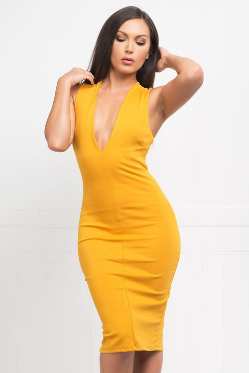 Love At First Sight Dress - Mustard