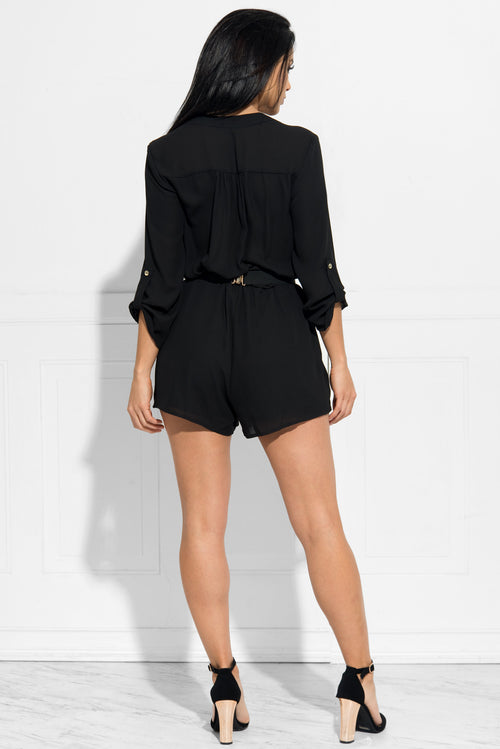 Feeling This Look Romper Black