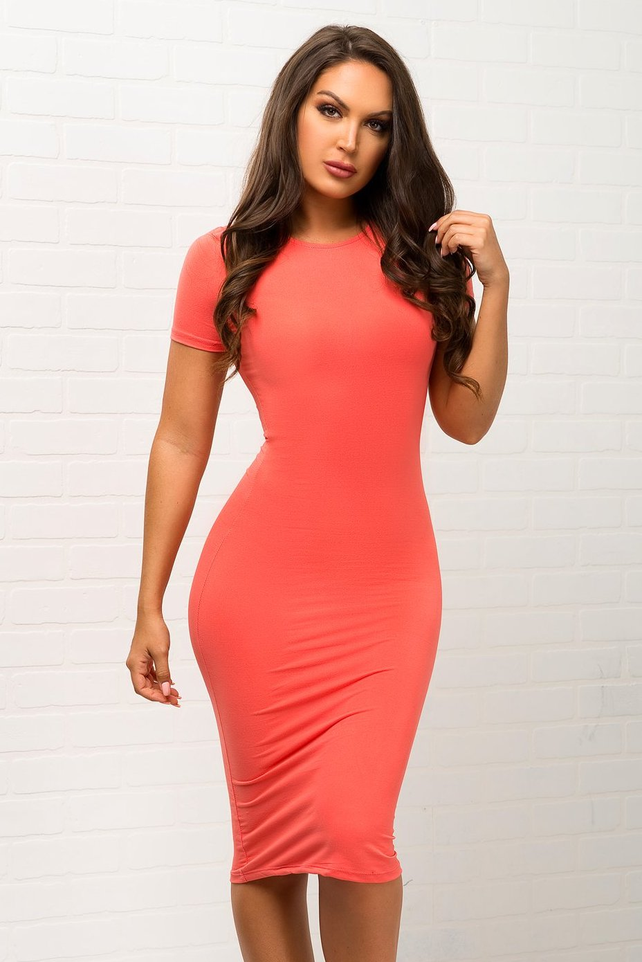 You Belong To Me Dress - Coral
