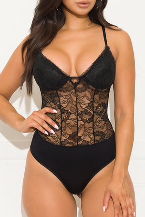 Want This Forever Bodysuit Black