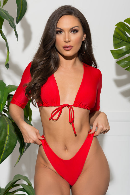 Punta Cana Two Piece Swimsuit - Red