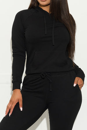 Set You On Track Sweater Black
