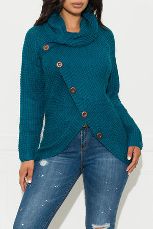 Last Chances Sweater Teal