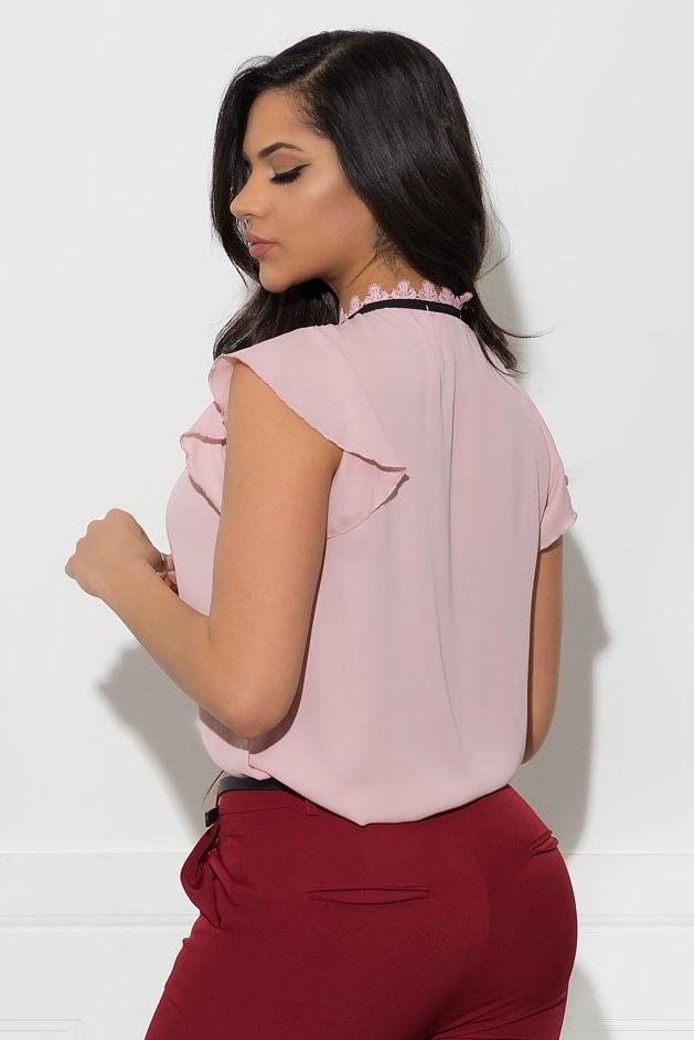 Marley Blouse - Dusty Pink