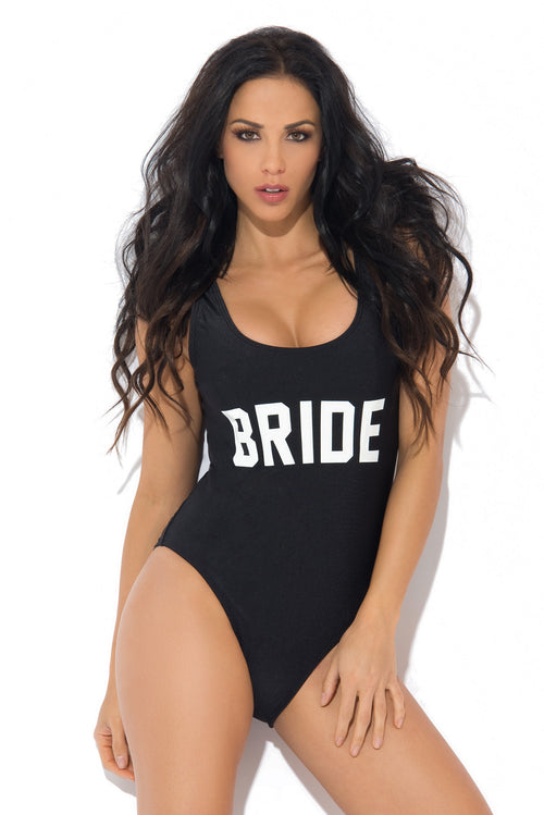 Bride One Piece Swimsuit Black - Fashion Effect Store  - 1