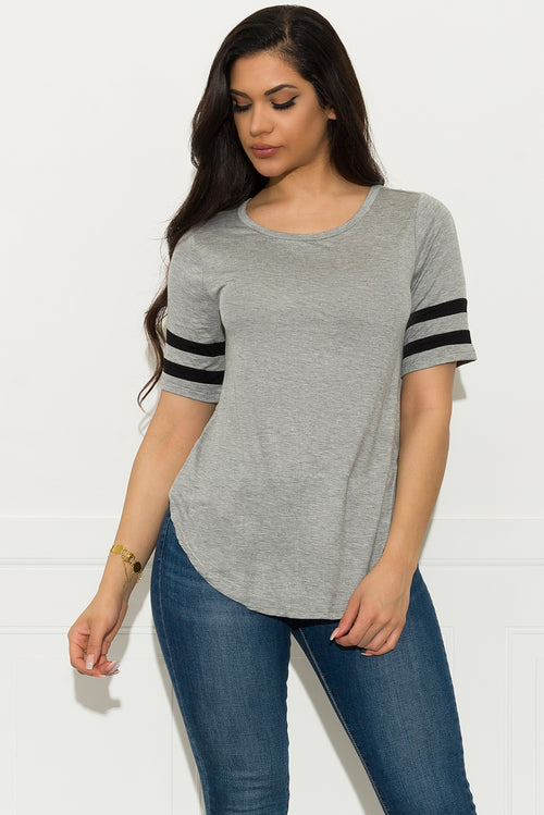 Zailey Top - Grey