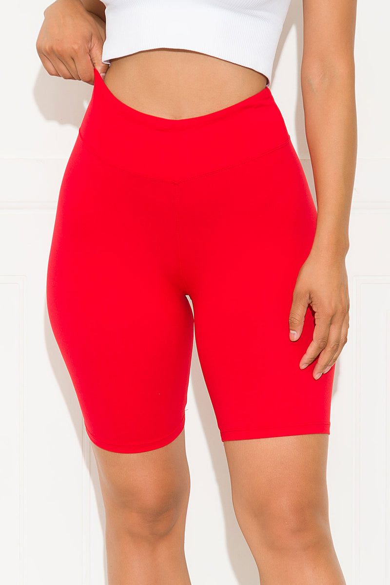 Going All Out Biker Short Red