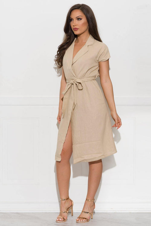 Alayna Dress- Khaki
