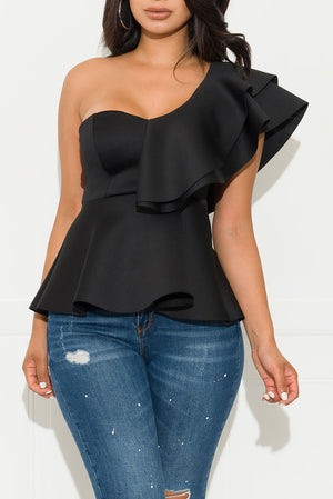 Just My Type Blouse Black