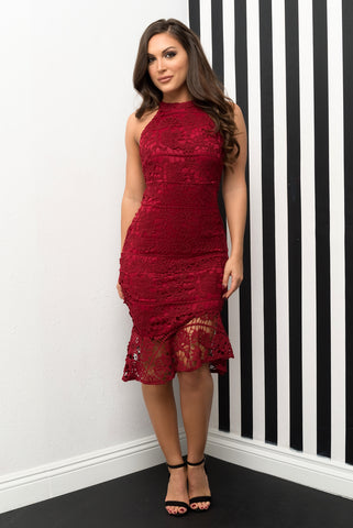 Zion Dress- Red