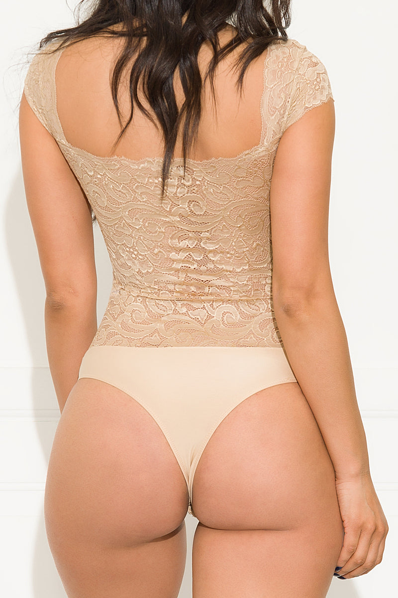 Without Me Bodysuit Khaki
