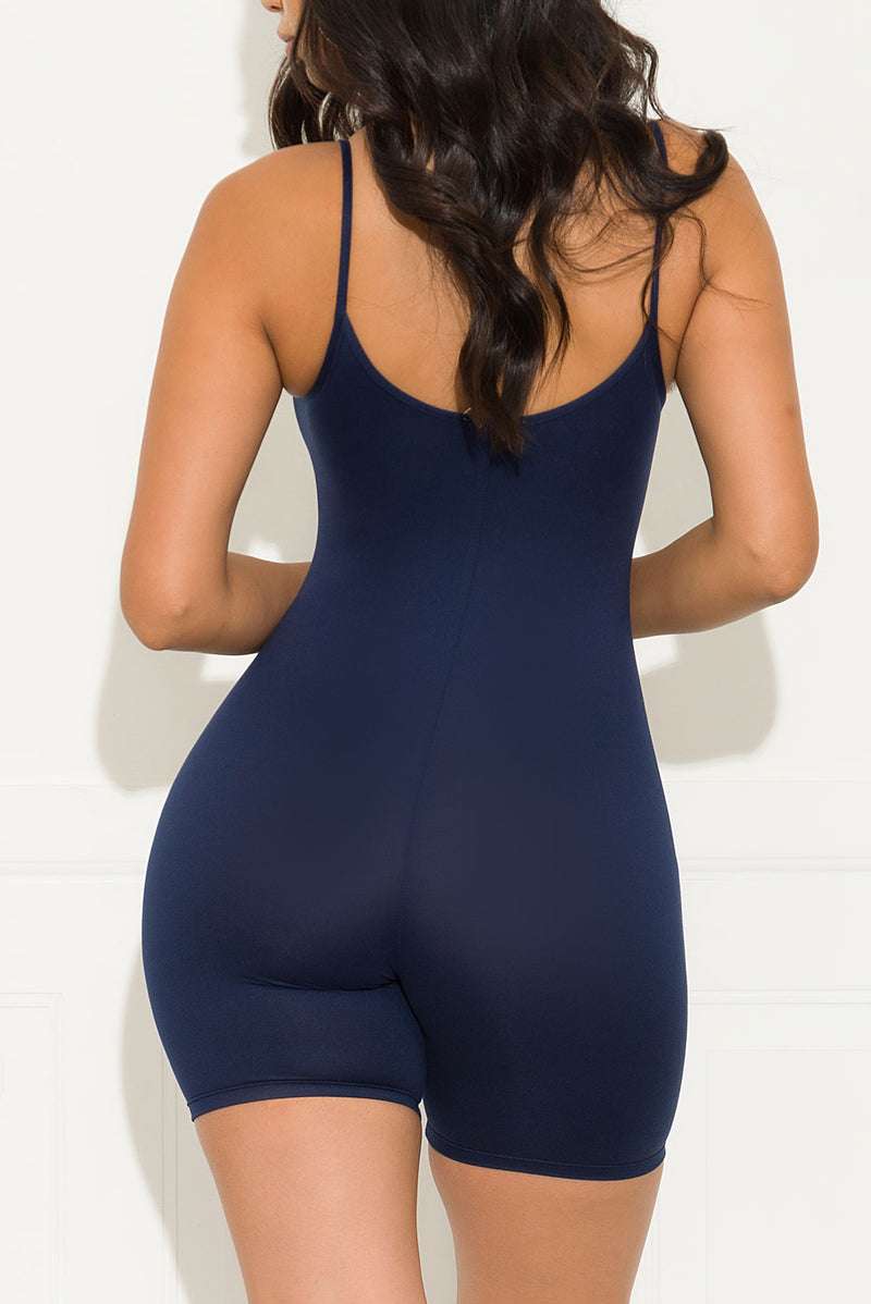 Now And Forever Romper Navy
