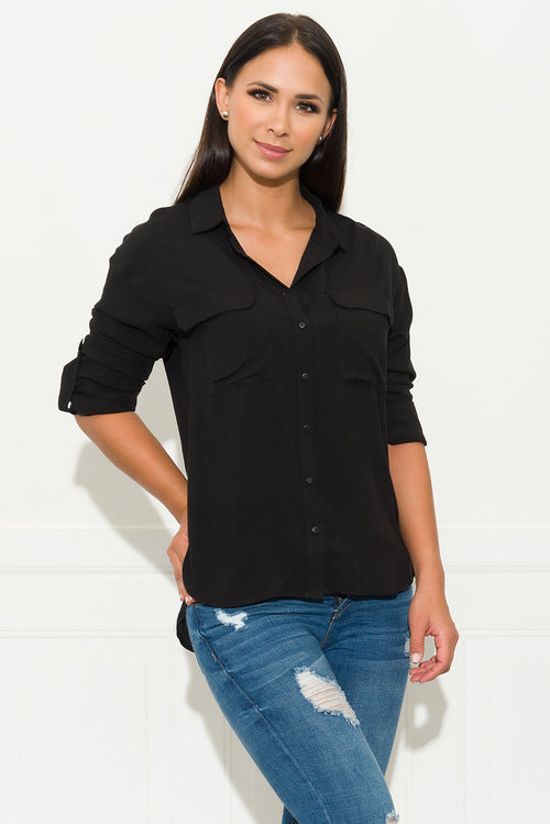 High Class Blouse - Black