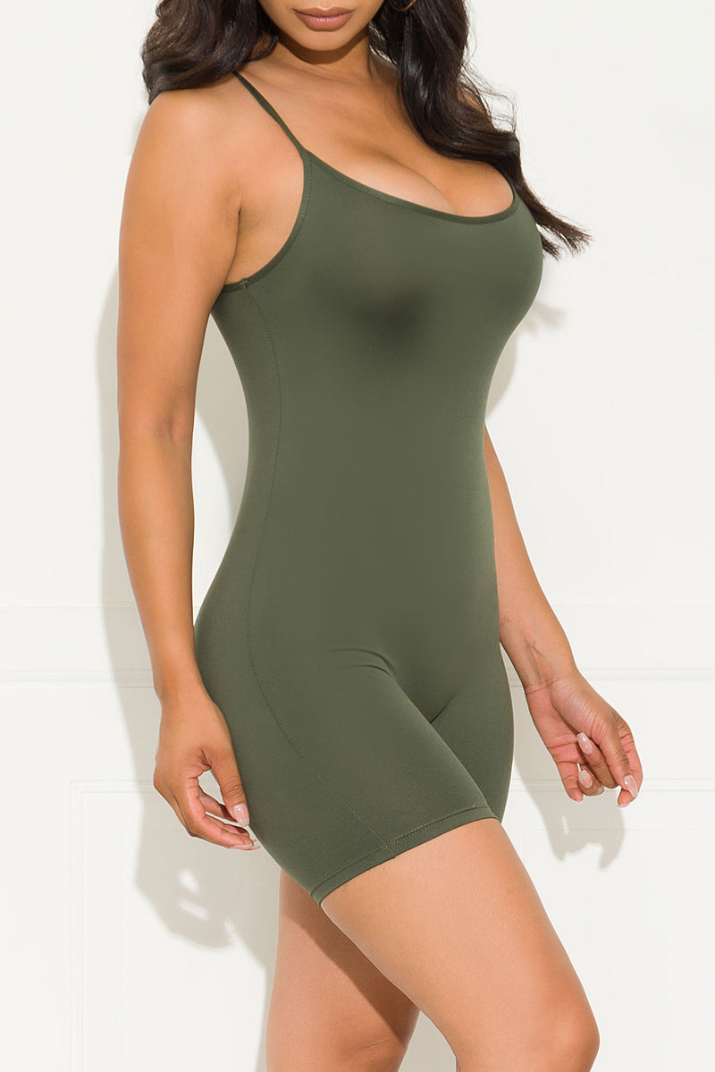 Now And Forever Romper Olive