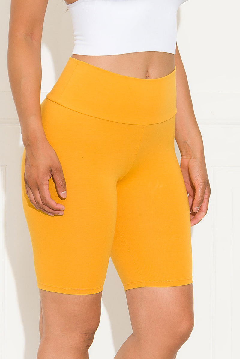 Make It Good High Waist Biker Shorts Mustard