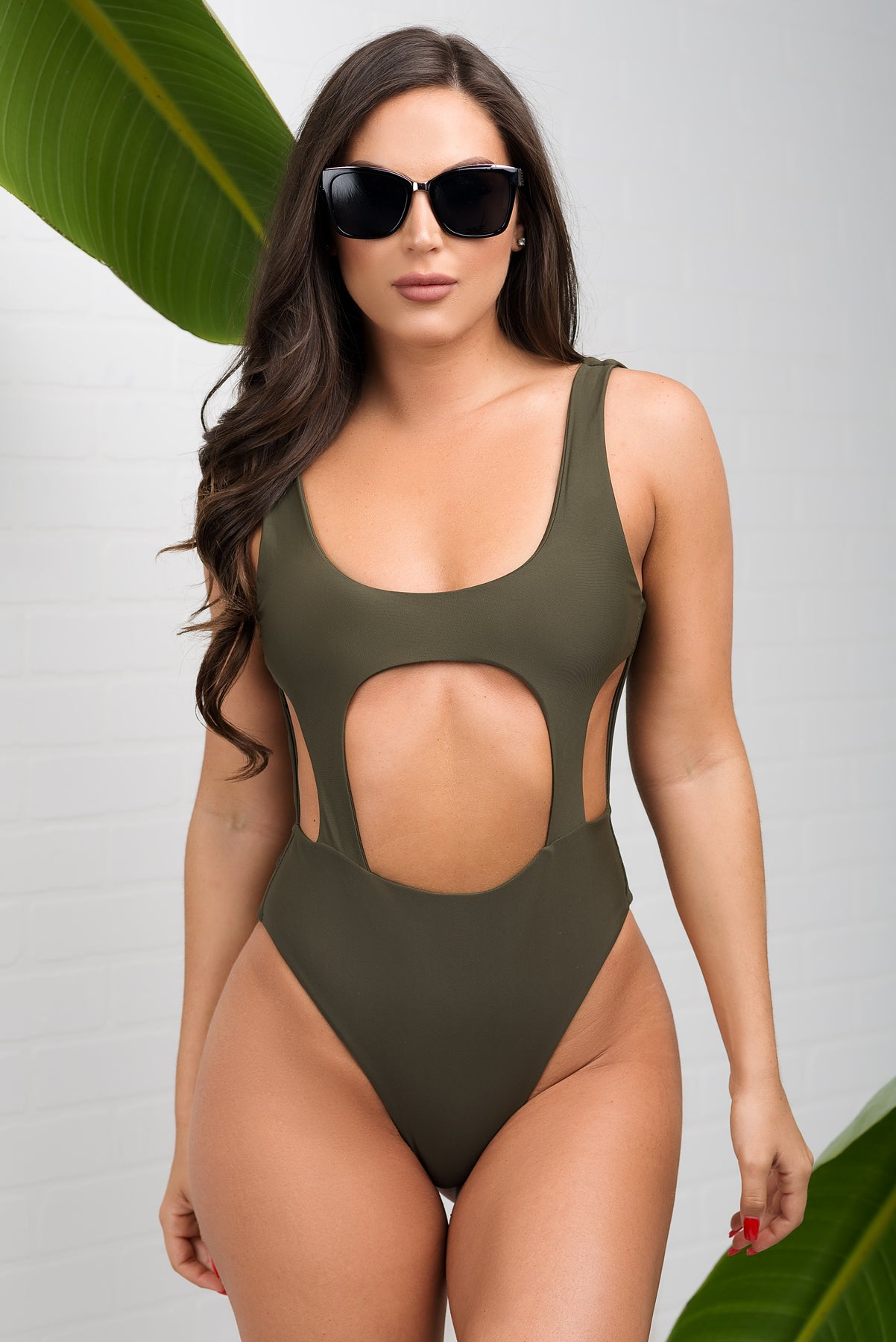 Tobago One Piece Swimsuit - Olive