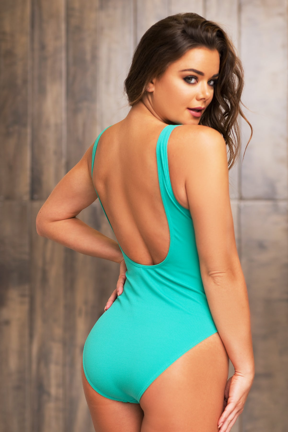 Make It Rain One Piece Swimsuit - Aqua