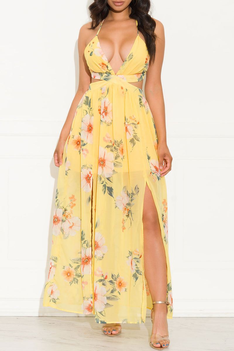 Valence Floral Dress Yellow