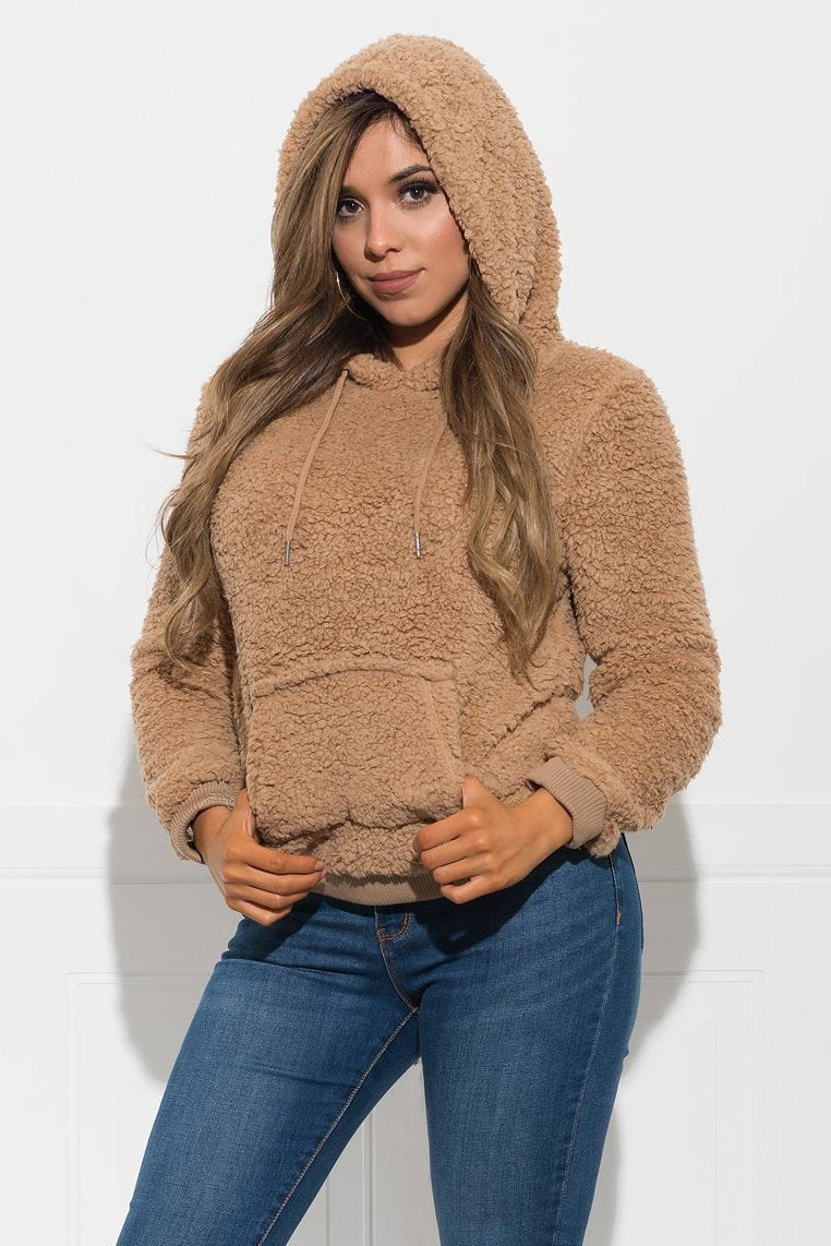 Hensley Hooded Sweater - Mocha