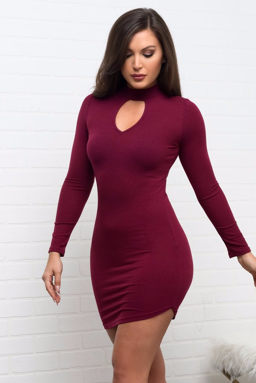 Rayne Dress - Burgundy