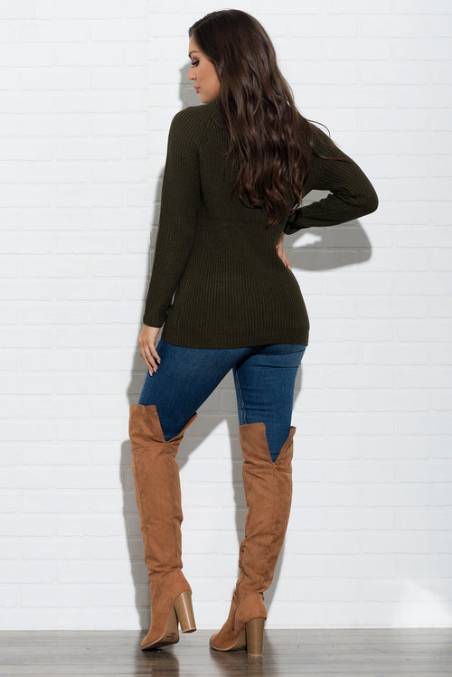 Laura Sweater - Olive Green