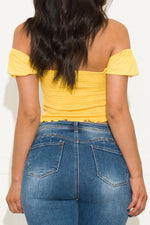 Spring Vibes Top Yellow