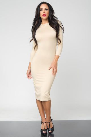 Marsha Ivory Long Sleeve Dress - Fashion Effect Store  - 1