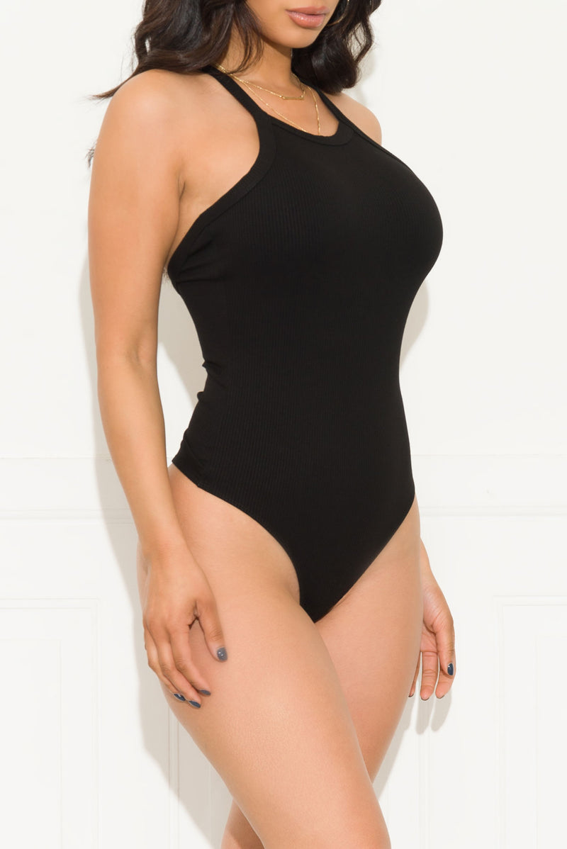 Not Waiting For You Bodysuit Black
