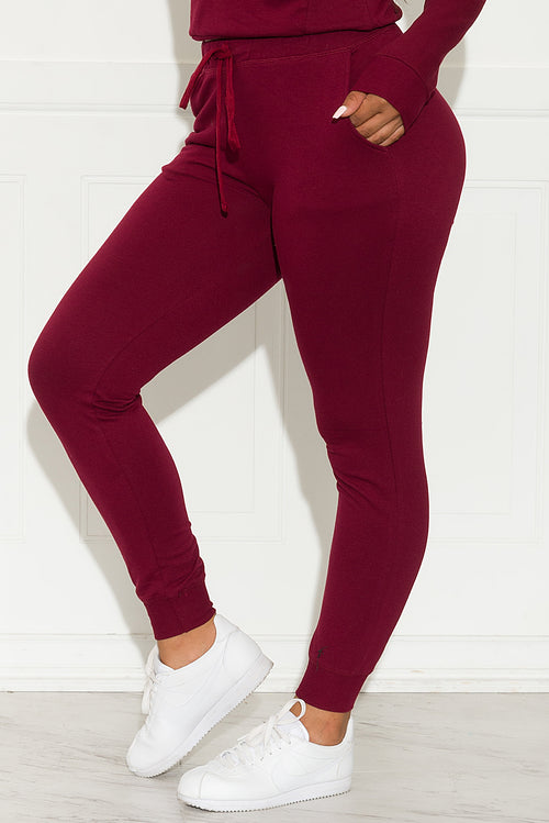 Keep It Going Jogger  Burgundy