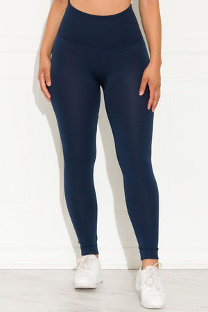 A Better Basic Waisted Leggings Navy