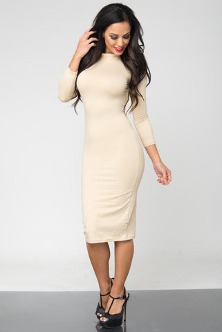 Marsha Ivory Long Sleeve Dress - Fashion Effect Store  - 2