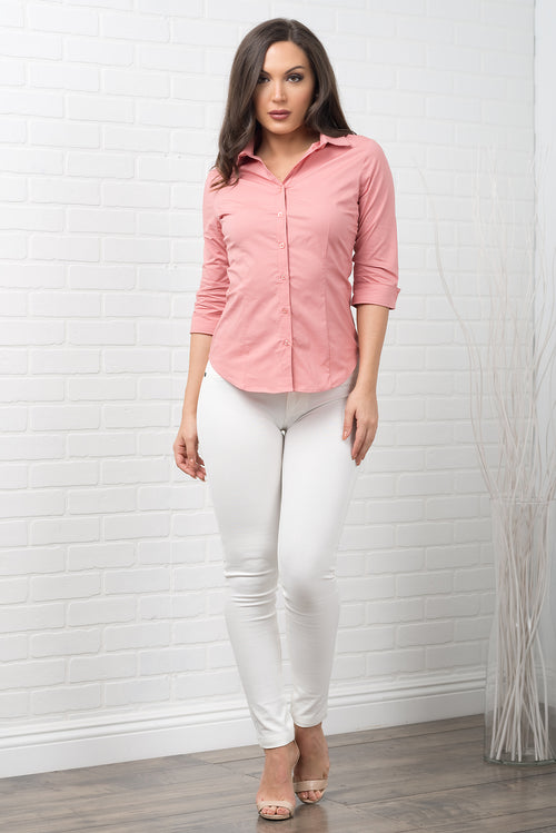 Hannah Blouse - Dusty Rose