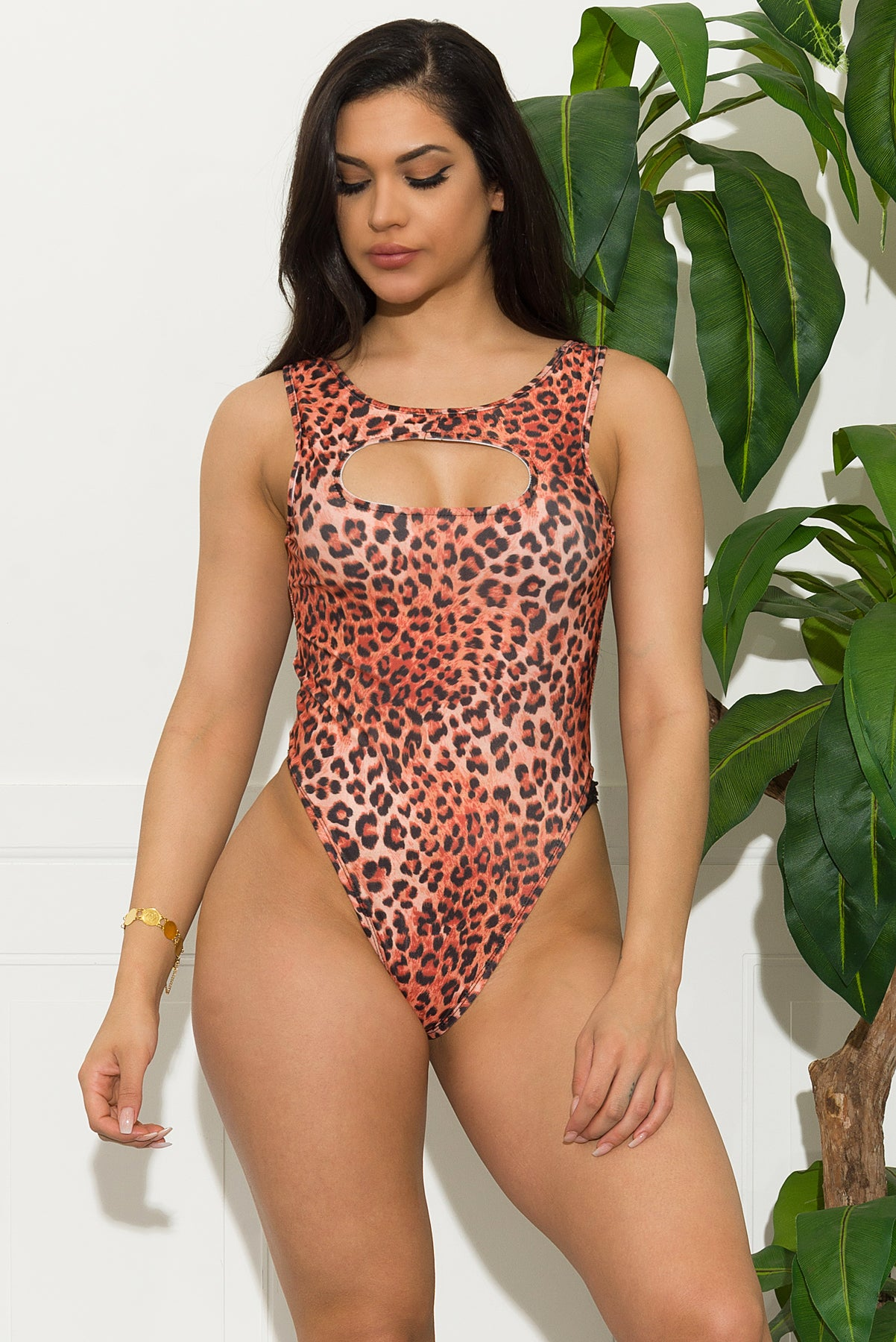 Osorich Strand Two Piece Set Swimsuit - Brown