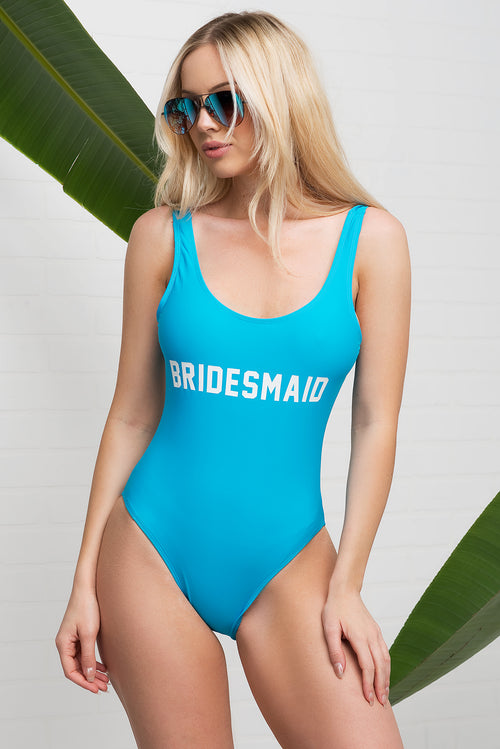Bridesmaid One Piece Swimsuit - Teal