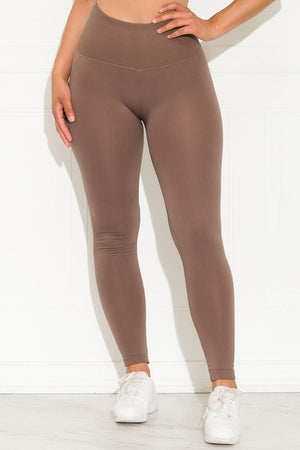 A Better Basic Waisted Leggings Mocha