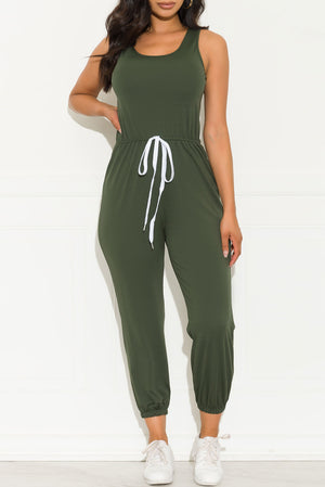 Simple Things Jumpsuit Olive