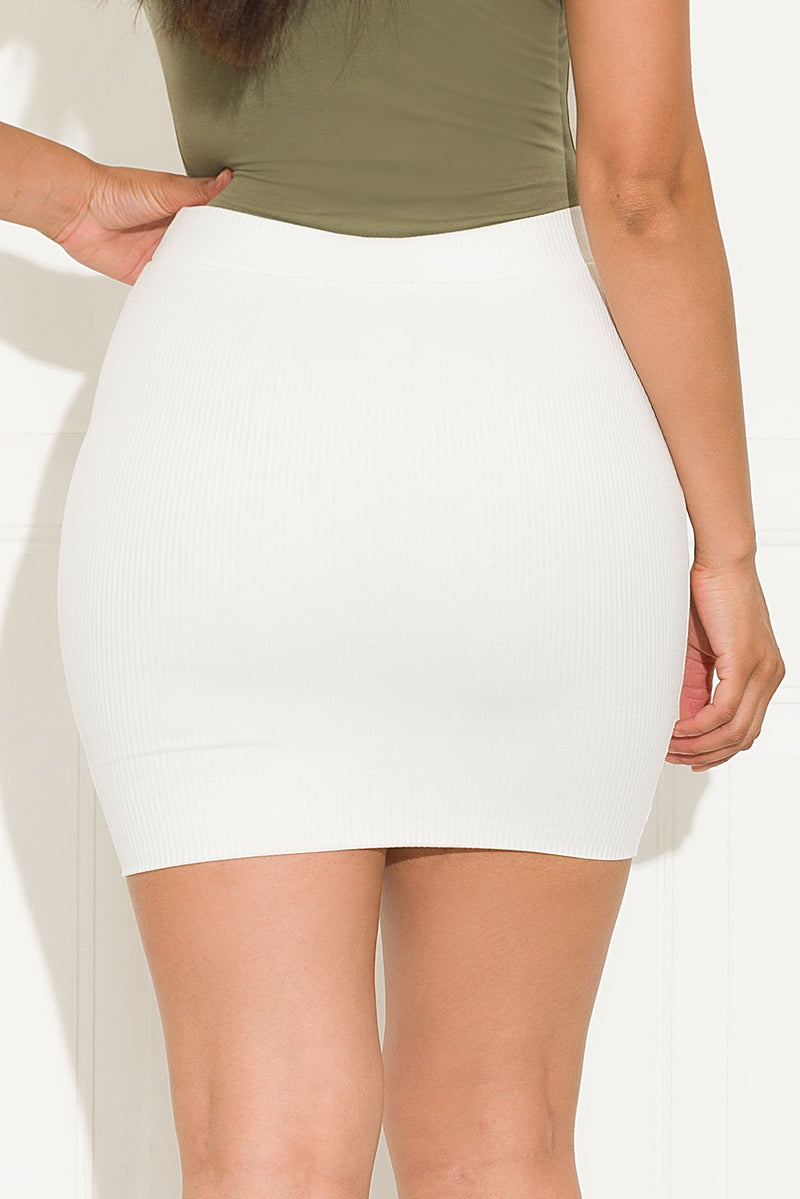 Desi Mini Skirt White