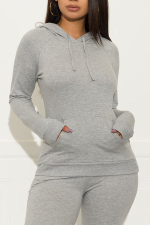 Set You On Track Sweater Grey