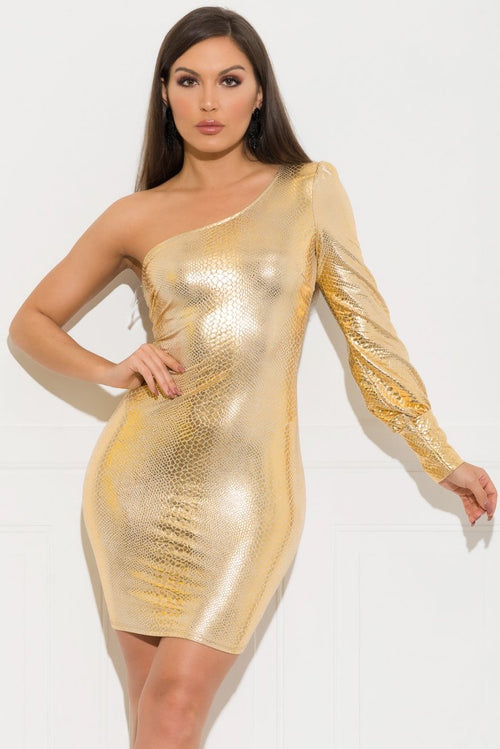 Hadley Dress - Gold
