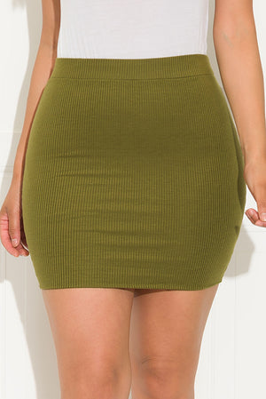 Desi Mini Skirt Olive